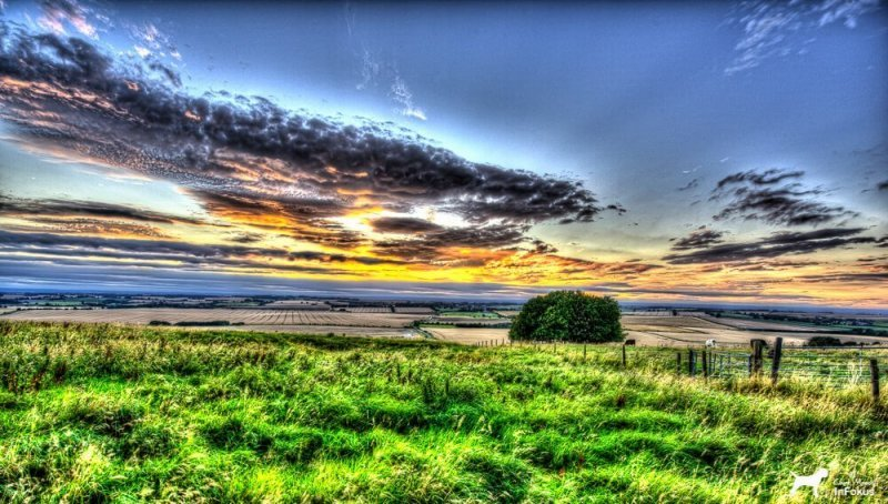 Hackpen Hill - Sunset