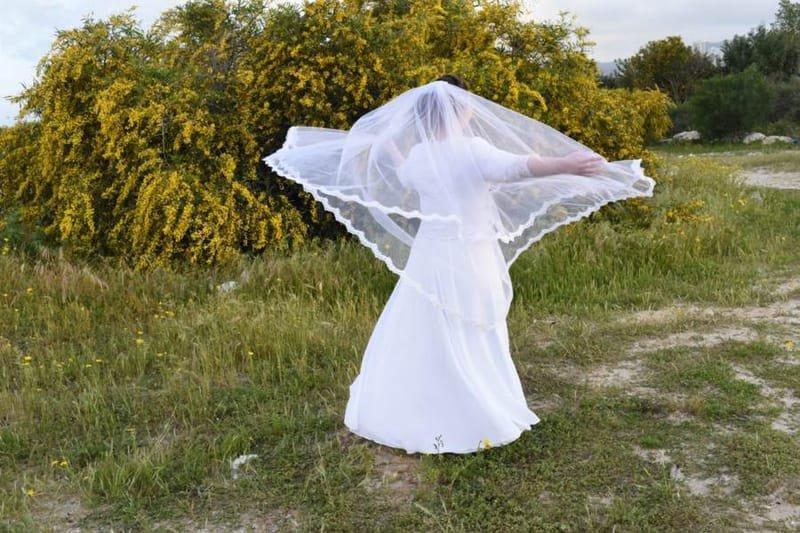 שמלה כלה צנועה  מידות גדולות   דגם 101