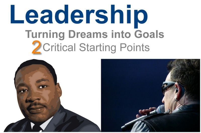 Leadership Turning Dreams into Goals.  2 Starting points.