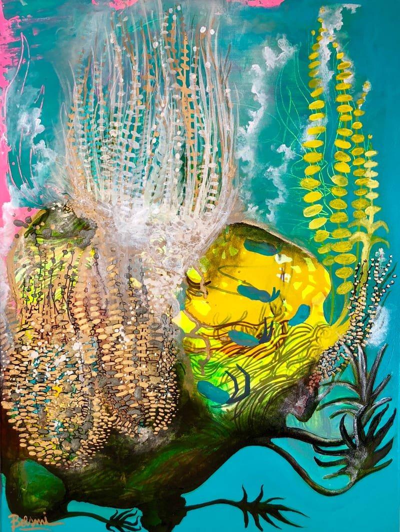 Water plants. Acrylic on canvas. 60x 45 cm. USD 1.100