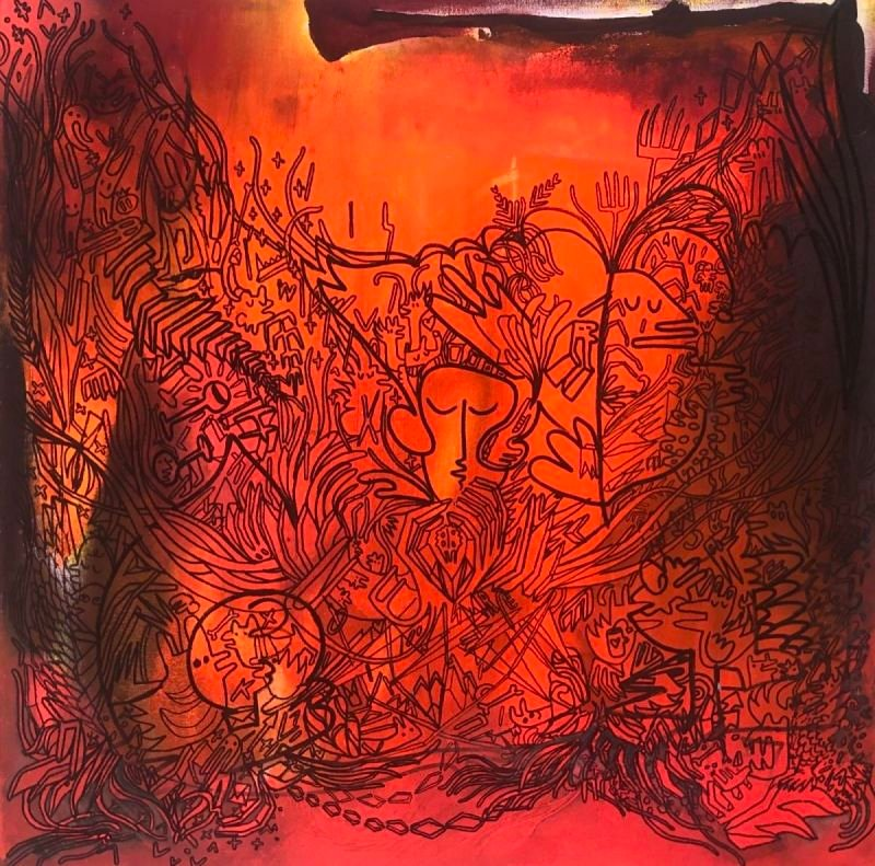 Imaginary grafittis. Acrylic on canvas. 60 x 60 cm. 1.200 $