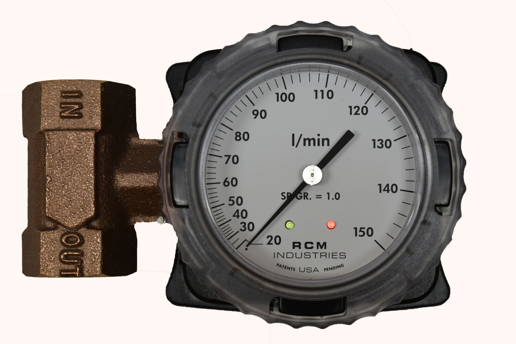Differential pressure flow switch flow meter for hazardous location
