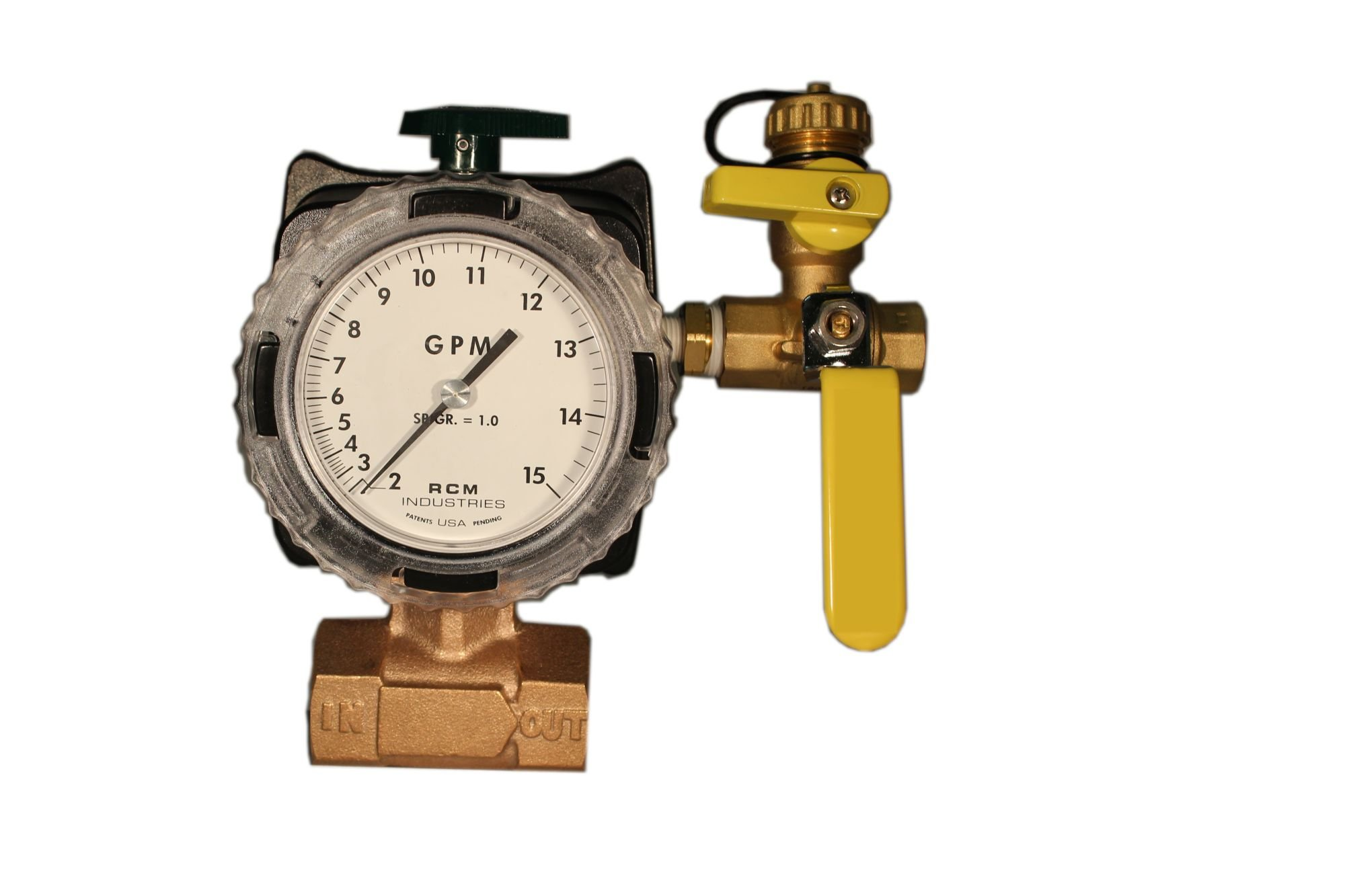 Differential pressure flow meter with flush valve system