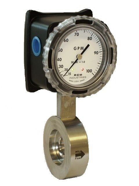 Differential pressure flow meter with switches for liquids and gases