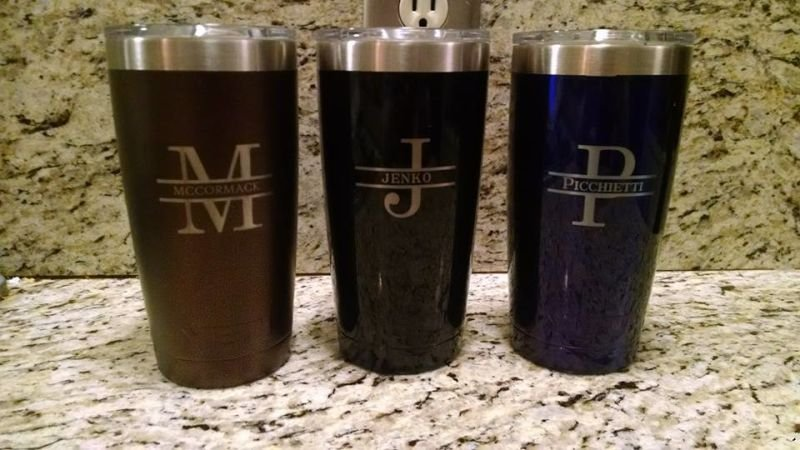Custom Monogramed 20oz Yeti Ramlers