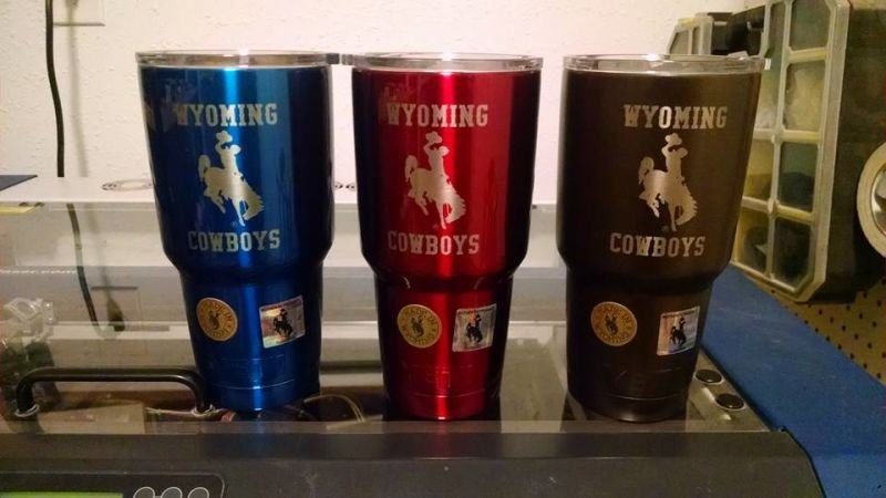 Wyoming Cowboys 30oz Yeti Ramblers
