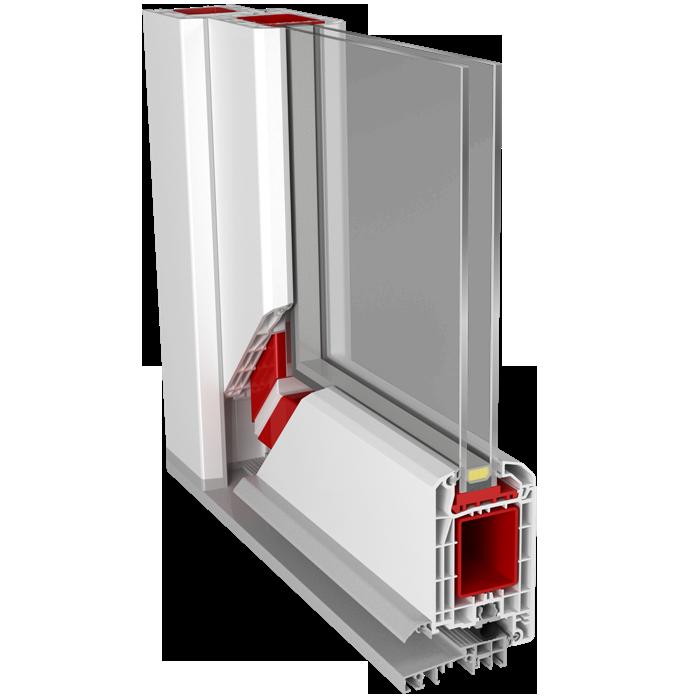 דלת פתיחה על ציר מ PVC כולל חיבור זווית לברזל החיזוק