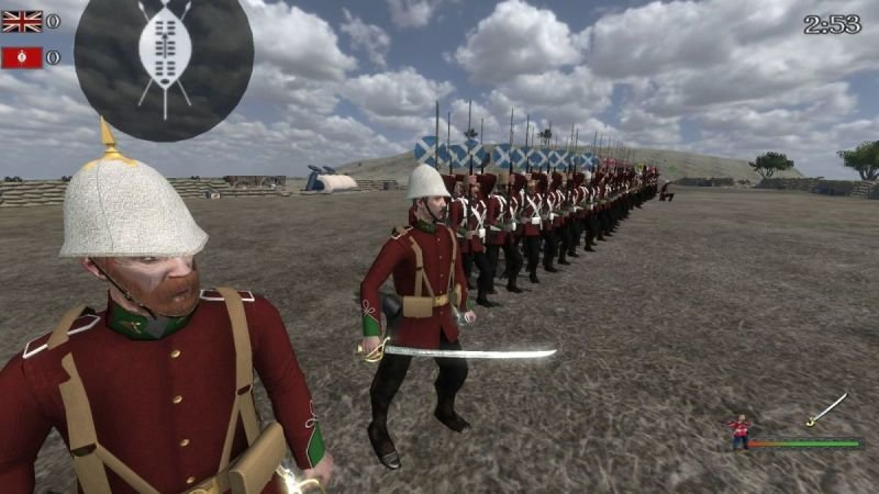 Holding back the zulus at Rorke's Drift