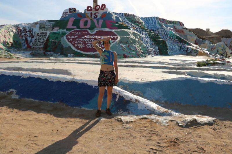 on tour 2017 Salvation mountain