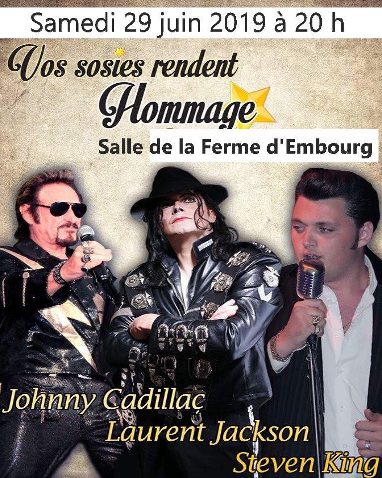 Spectacle des sosies Laurent Jackson Johnny Cadillac et Steven King