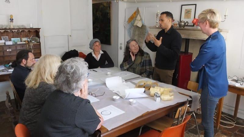Coptic amulet, experimental archeological arts workshop - Korshi Dosoo